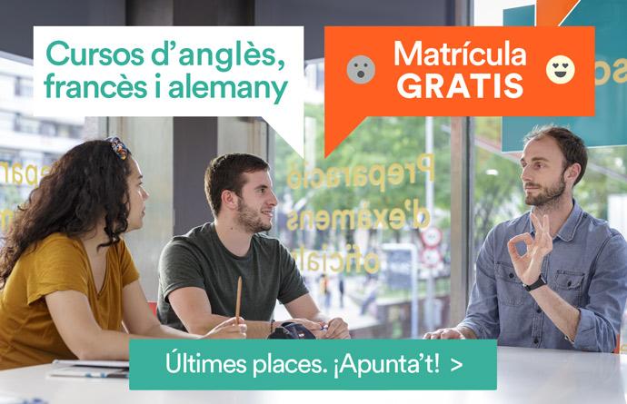 cursos d'anglès ADULTS matrícula gratis