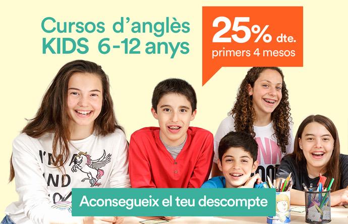cursos d'anglès KIDS 6-12 anys